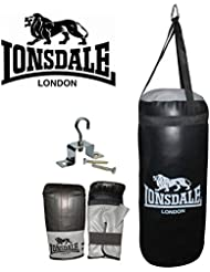 Lonsdale Jab Punch Bag Set Sports Leisure Synthetic Material Equipment Boxing Assorted