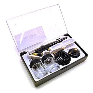 AB Tools-Silverline Mini Airbrush Spray Gun Paint Painting Kit Artist Craft Modelling Sil134
