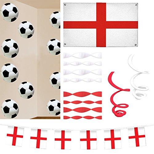 Raumdeko-Set - England WM Party Deko ()