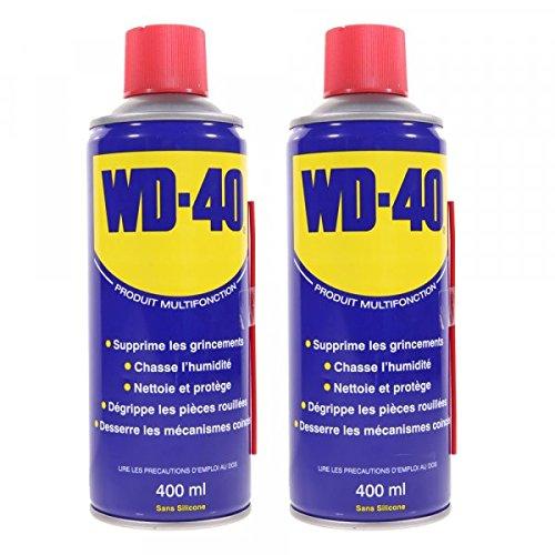Dégrippant WD40 400ml Nettoyant lubrifiant protège corrosion par 2 – Pièce neuve