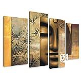 Bild & Kunstdruck der deutschen Marke Visario 130 x 80 cm 6157 Bilder auf Leinwand Kunstdrucke Buddha Wandbild