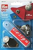 PRYM 390511 Druckknöpfe Anorak 20mm mattsilber Modell EXCURSION 6 Stück