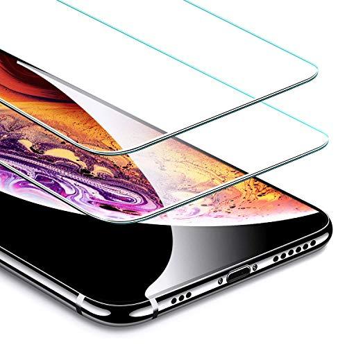 ESR Protector Pantalla para iPhone XS/X [2 Piezas] [Kit de Instalación] [Garantía de por Vida] Cristal Templado 9H Dureza [3D Touch Compatible], Anti-Huella para Apple iPhone X/iPhone XS de 5.8″