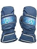 Ultrasport Basic Ski Fäustlinge Starflake, Fausthandschuhe für Kinder mit guter Bewegungsfreiheit, wasserbeständig und winddicht, marine/Victoria blau, Größe 6 - 8 J.