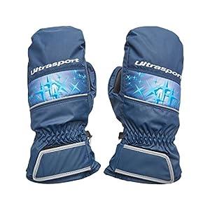 Ultrasport Basic Ski Fäustlinge Starflake, Fausthandschuhe für Kinder mit guter Bewegungsfreiheit, wasserbeständig und winddicht, für 2-14 Jahre