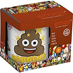 Emoji Happens Ceramic Mug in Gift Box, White