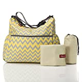 Babymel Wickeltasche Big Slouchy ZigZag BM 5979 Yellow/Grey Sommer 2015