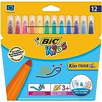 Bic 828966 Kids Kid Couleur XL Feutres de Coloriage - Etui Carton de 12