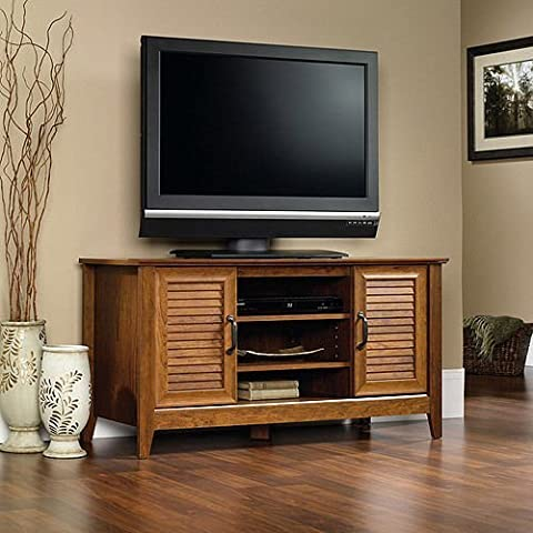 TV Stand Entertainment Media Center Flat Screen Storage Console Wood Furniture by Brand New