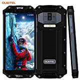 Outdoor Handy 10000mAh, OUKITEL WP2 Dual SIM IP68 Smartphone 6 Zoll Display 4GB RAM 64GB ROM Android 8.0 3 Kameras 16MP+2MP+8MP Wasserdicht Stoßfest Staubdicht Robuste Smartphone Fingerabdruck-Schwarz