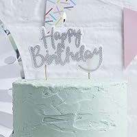 Geburtstagskerze Happy Birthday bunt mit Glitter Buchstabenkerzen Geburtstag