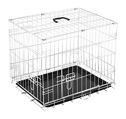 Preisvergleich Produktbild PawHut 5663-1300S Transportkäfig für Haustier, silber