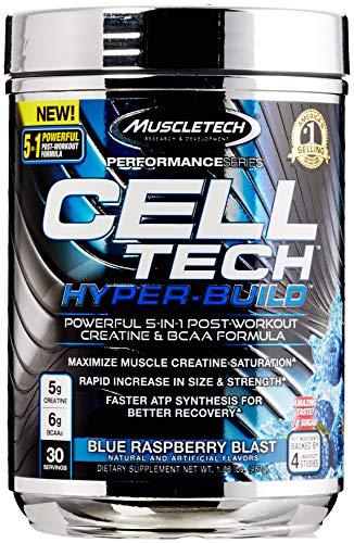 Muscletech Performance Series Cell-Tech Hyper-Build, 30 Servings, Blue Raspberry Blast, 510 g