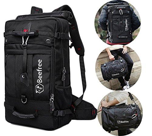 Beefree 50 liter 3-in-1 anti diebstahl rucksack outdoor wanderrucksäcke multifunktional wasserdicht trekkingrucksäck reiserucksäck (Anti-diebstahl-rucksack 100)