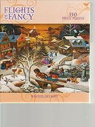 Flights Of Fancy - Winter Delight - 550 piece puzzle