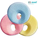 Babykissen von iQ-med®   Baby-Kissen gegen Verformung und Plattkopf   aus viskoelastischem Schaum   passt auch im Kindersitz   Kinder-Kissen, Kopf-Kissen für Säugling, Memory-Schaum