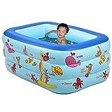 XLHGG Piscina gonfiabile piscina famiglia vasca gonfiabile bagnetto pieghevole, medio