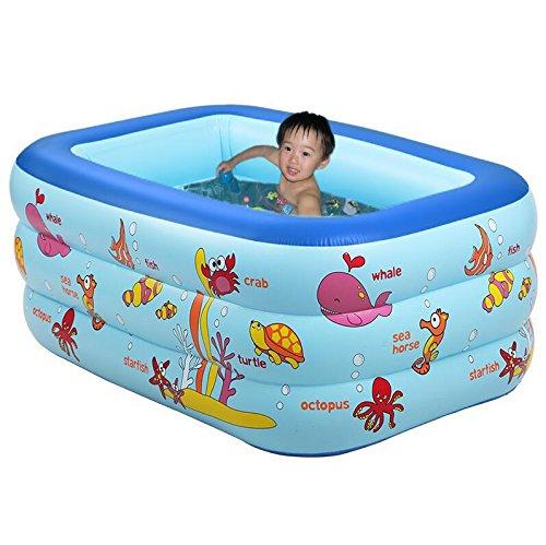 HHBO Aufblasbarer Swimmingpool Haushalt Bad aufblasbare Baby Pool, Falten (Arm Mann Aufblasbare)