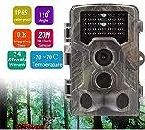 Flybiz Wildkamera 20MP 1080P Full HD Jagdkamera 120°Weitwinkel Vision Infrarote 20m Nachtsicht Wasserdichte IP65, Wasserdichte Überwachungskamera für Wildtierjagd und Heimsicherheit