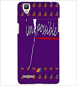PrintDhaba Impossible D-5009 Back Case Cover for OPPO F1 (Multi-Coloured)