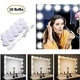 STN Luces de Espejo de Tocador Espejo de Maquillaje LED Kit,10 Bombillas Dimmable 3 Modos De Color y 10 De...
