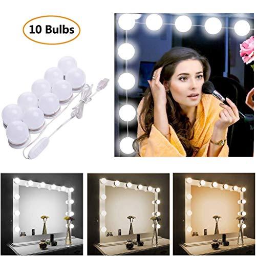 STN Luces Espejo Tocador Espejo Maquillaje LED Kit,10