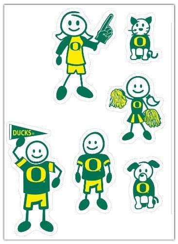eine Familien Aufkleber Set von Siskiyou Gifts CO, Inc. (Oregon-duck-aufkleber)