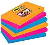 Post-it Super Sticky Lot de 6 Blocs de Notes repositionnables 76 x 127 mm BANGKOK