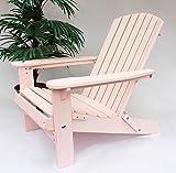 DanDiBo Strandstuhl aus Holz Rosa Gartenstuhl klappbar Adirondack Chair Sonnenstuhl