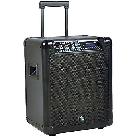 ALTAVOZ DE BAJOS PROFESIONAL DE BATERÍA PORTÁTIL con Bluetooth, MP3 Y MICRÓFONO PARA KARAOKE, DISEÑO DE