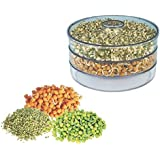 Trackindia Hygienic Sprout Maker For Multi Purpose Use ( 3 Compartment)