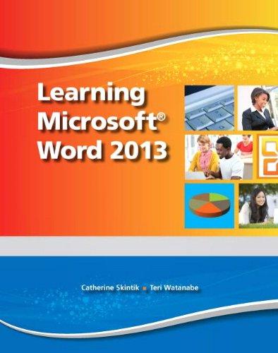 Emergent Learning LLC: Learning Microsoft Word 2013, Student