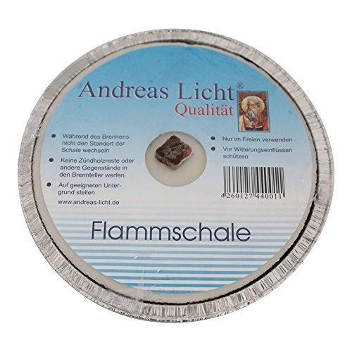 10er Pack Partylichter / Flammschale Assiette Andreas Licht je ca. 160 x 25 mm Partykerze rund Tischkerze