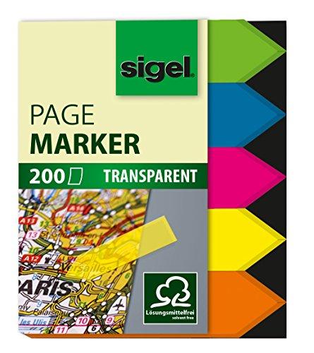 sigel-hn613-haftmarker-pfeile-200-mini-streifen-im-format-12-x-45-mm-5-farben