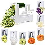 FUKTSYSM Spiralizer Vegetable Slicer - 7 Blade Spiralizer: Strongest-and-Heaviest Duty Vegetable Spiral Slicer
