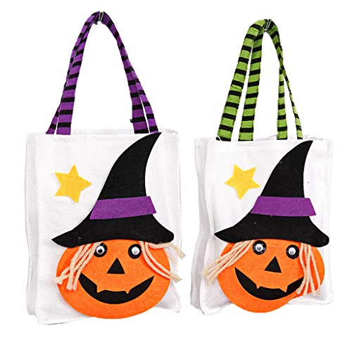 Halloween Candy Holder Pfandrecht Aufbewahrungstasche mit Griff Party Favors Geschenk Dekoration Halloween Party Favors Dekoration Candy Bucket Geschenk Kostüm Party-Schwarzer Hut Kürbis