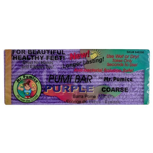 New! Purple Pumi Bar Mr Pumice Hard Skin Callus Remover Bar Hands Feet Elbow by Mr. Pumice