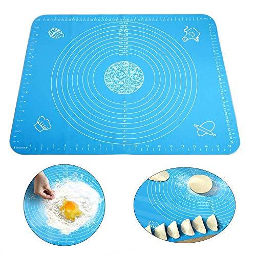 Miji 15,7 '' '' x19,6 '' '' Silikon-Rollmatte mit Messungen, Antihaft-rutschfeste wiederverwendbare Teigmatte Liner Hitzebeständigkeit Tisch Tischset Pad Pastry Board für Hausfrau (Silikon-Backmatte) Ld-liner
