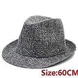 GUOMAOUP Cappello di Grandi Dimensioni 60 Cm 7 Pollici Nuovi Uomini di Moda Estate Cappello da Sole papà Spiaggia Cappello Fedora Cappello da Sole Signore Panama Cappello Reticolo Grigio 60 Cm