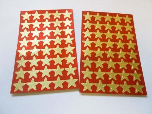 Dorado 14mm Estrella Adhesivos, 80 Etiquetas, para las recompensas, Premio, Manualidades Para Niños , Economía Pack