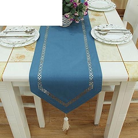 Einfache Und Moderne Mode Durchbrochenen Seidenartiges Gewebe Tischläufer,Tischsets Tischdecken-A 33x200cm(13x79inch)
