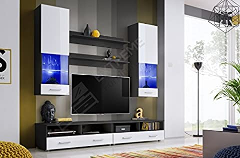Enchanting Living Room Set - Floor Cabinet with Drawers -