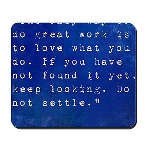 vcbndfcjnd Inspirational Quote by Steve Jobs On Ear - Non-Slip Rubber Mousepad, Gaming Mouse Pad