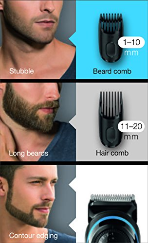 Braun BT3040 Beard / Hair Trimmer for Men with Free Gillette Fusion ProGlide Manual Razor 2