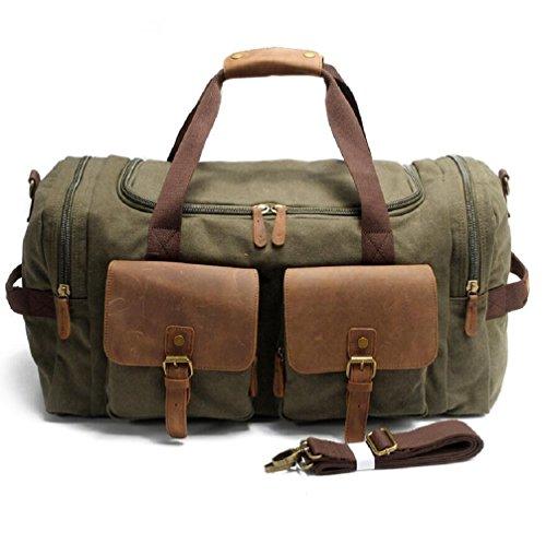ZC&J Outdoor 36-55L Kapazität Gepäck Tasche Segeltuch Schulter Messenger Beutel Handtasche, mit zwei Taschen, langlebige Verschleiß Anti-Kratzer Handtasche B