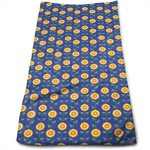 Kitchen Hand Towel Favorite Sunflower Flower Durable Antibacterial and Highly Absorbent Reusable Polyester Towel