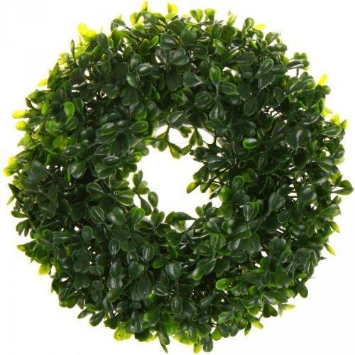 Buchskranz Kunstpflanze Kranz Türkranz Buchs Deko Dekoration Weihnachtsdeko Blume Buchsbaum 40cm