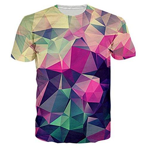 NEWISTAR Unisex 3D Druckten Sommer-beiläufige Kurze Hülsen-T-Shirts T-Stücke -