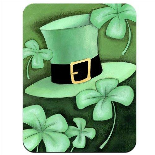 Lucky Irish Shamrock & Grün Leprechaun Hat Premium Qualität Mauspad aus dickem Gummi eine angenehm weiche Oberfläche