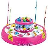 Elektrische Musik Licht Rotierenden Magneten Fisch Kinder Spielen Spielzeug - Rosa, 9,84 Zoll